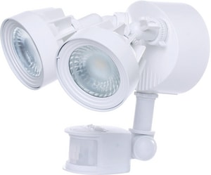 Nuvo Lighting 2-Light Wall Mount Dual Head LED Outdoor Security Light in White N65108