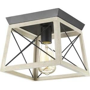 Progress Lighting Briarwood 60W 1-Light Flush Mount Ceiling Fixture in Graphite PP350022