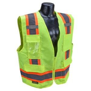 Surveyor Heavy Duty Solid Twill Safety Vest Class 2 Hi-Viz Green 2XL RSV622ZGT2X at Pollardwater