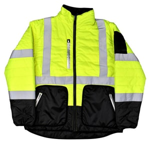Radians M Size Quilted Reversible Jacket with Zip-Off Sleeve RSJ5103ZGSM at Pollardwater