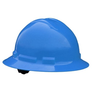 Radians Full Brim Hard Hat with Ratchet Suspension Blue RQHR6