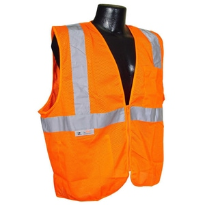 Radians S Size Safety Vest with Zipper in Hi-Viz Orange RSV2ZOMS
