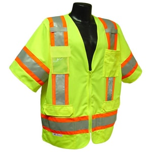 Radians Radwear™ M Size Polyester Safety Vest in Hi-Viz Green RSV63GM at Pollardwater