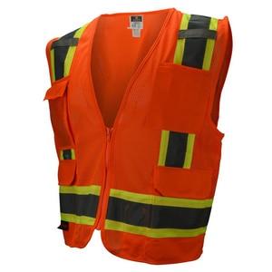 Radians Two Tone Surveyor Mesh Safety Vest Class 2 Hi-Viz Orange Large RSV62ZOML at Pollardwater