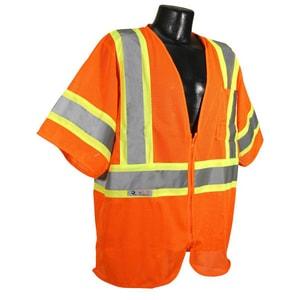 Radians Economy Two Tone Mesh Safety Vest Class 3 Hi-Viz Orange 2XL RSV223ZOM2X