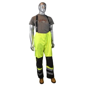 Radians XXXL Size Heavy Duty Rip Stop Waterproof and Breathable Pant with Bib RRW32EZ1Y3X at Pollardwater