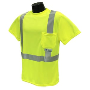 Radians ST11-2 Short Sleeve T-Shirt Class 2 Hi-Viz Green 3XL RST112PGS3XL at Pollardwater