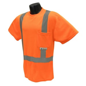 Radians ST11-2 Safety T-Shirt in Hi-Viz Orange RST112POS at Pollardwater