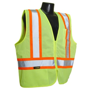 Radians L Size High-Visibility Mesh Safety Vest in Green RSV222ZGML