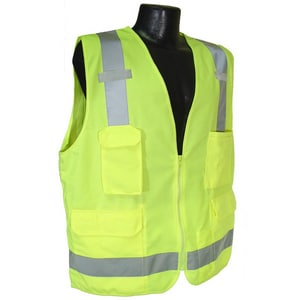 Radians XL Size Surveyor Safety Vest with 2-Tone in Hi-Viz Green RSV7GXL