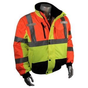 Radians Radwear™ M Size 300D and Oxford Polyester Bomber Jacket in Hi-Viz Multi-Color RSJ123ZMSM at Pollardwater