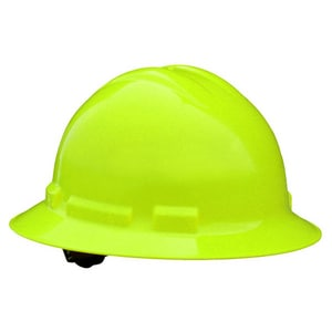 Radians Full Brim Hard Hat with Ratchet Suspension Green RQHR6GREENHV