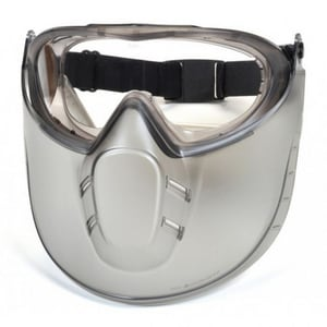 Pyramex Safety Products Capstone® Safety Goggle with Anti-fog Lens and Face Shield in Clear PGG504TSHIELD