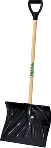 True Temper 18 in. Poly Combo Snow Shovel with Wood Handle A1627400