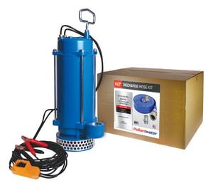 Warren Rupp PortaPump® 1-1/2 in. NPT 1/3 hp 12V Submersible Dewatering Pump with 25 ft. Hose WSPA112EKIT at Pollardwater