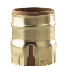 Satco Aluminum Shell and Cap with Paper Liner in Bright Gilt S901146