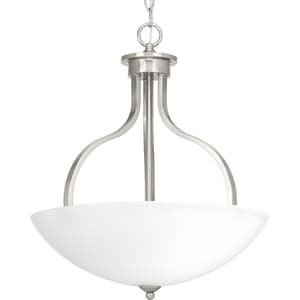 Progress Lighting Laird 100W 3-Light Medium E-26 Incandescent Pendant Light in Brushed Nickel PP500071009