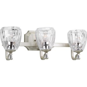 Progress Lighting Anjoux 100W 3-Light Medium E-26 Incandescent Vanity Fixture in Silver Ridge PP300118134