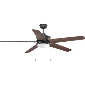 Progress Lighting Whirl 70w 5 Blade Indoor And Outdoor Ceiling Fan With 60 In Blade Span And Led Light In Forged Black P2574 8030k Ferguson
