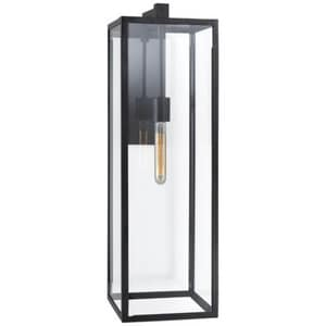 Visual Comfort & Co Fresno 60W 1-Light Outdoor Wall Sconce in Aged Iron VCHD2936AICG