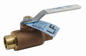 Apollo Conbraco 70LF-200 Series 1 in. Bronze Standard Port Solder 600# Ball Valve A70LF20504
