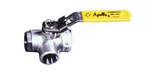 Apollo Conbraco 76-100 Series 1-1/2 in. Stainless Steel Standard Port FNPT 3-way Ball Valve with RPTFE Seat A7660701A
