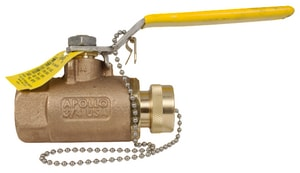 Apollo Conbraco 70-100 Series 1 x 3/4 in. PTFE Bronze Standard Port Threaded x NPSH 600# Ball Valve A70105HC