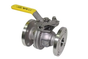 Apollo Conbraco 87A-200 Series 1-1/2 in. CF8M Stainless Steel Full Port Flanged 150# Ball Valve A87A20