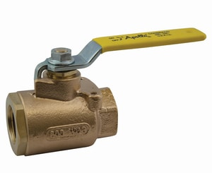 Apollo Conbraco 77-900 Series 1 in. Bronze Full Port SAE Straight Thread Ball Valve with O-ring Boss Connection A7790501