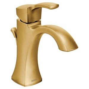 Moen Voss™ Single Handle Monoblock Bathroom Sink Faucet in Brushed Gold M6903BG