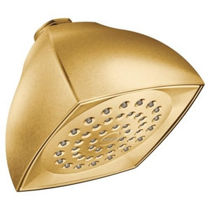Moen Single Function Full Showerhead in Brushed Gold M6325