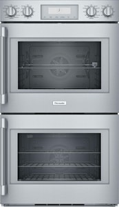 Thermador Professional Series 24-1/2 x 52-1/16 x 29-3/4 in. 9 cf Electric Double Wall Oven in Stainless Steel TPOD302RW