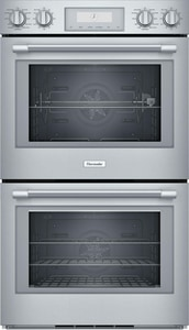 Thermador Professional Series 24-1/2 x 52-1/16 x 29-3/4 in. 9 cf Electric Double Wall Oven in Stainless Steel TPOD302W