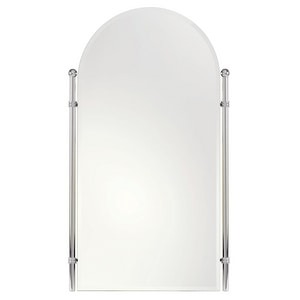 Ginger USA Chelsea 21 x 35 in. Brass Wall Mount Arched Mirror in Polished Chrome G1141PC