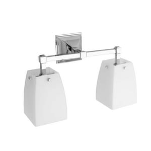 Ginger USA Quattro 100W 2-Light Bathroom Fixture in Polished Chrome G1882DPC