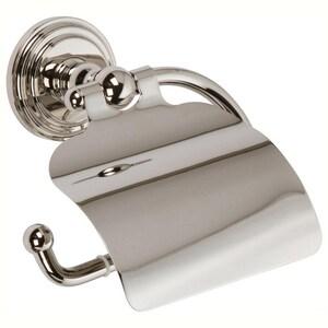 Ginger USA Chelsea Hooded Toilet Tissue Holder in Polished Nickel G1127PN