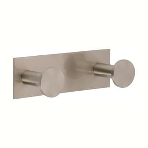 Ginger USA Surface 2 Robe Hook in Satin Nickel G2810DSN