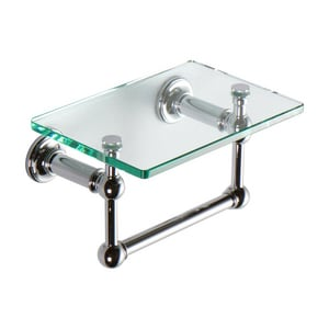 Ginger USA 9 in. Shelf with Towel Bar in Polished Chrome G4519T9PC