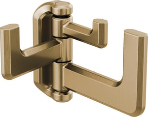 Brizo Levoir™ Zinc Triple Hinged Robe Hook in Luxe Gold D693597GL