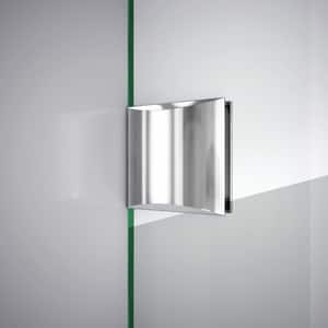 DreamLine Unidoor Lux 46 in. Frameless Hinged Shower Door with Clear Glass in Brushed Nickel DSHDR2346721004