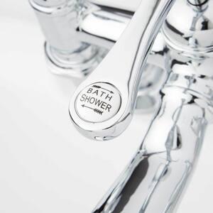 Signature Hardware Glenwood Three Handle Roman Tub Faucet in Polished Chrome SH205507