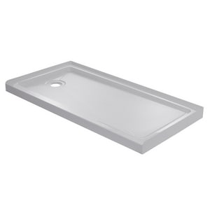 Signature Hardware 60 in. Rectangle Shower Base in White SHSB6032LWH