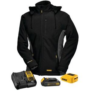 Radians S Size 12/20V Polyester Heated Women Hooded Jacket Kit in Black RDCHJ066C1