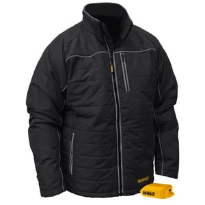 Radians L Size 20V Polyester Heated Quilted Bare Jacket in Black RDCHJ075BL
