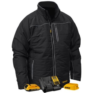 Radians XXXL Size 20V Polyester Heated Quilted Jacket Kit in Black RDCHJ075D13X