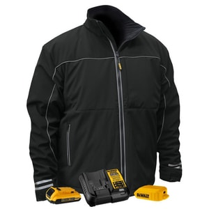 Radians S Size 20V Polyester Heated Soft Shell Jacket Kit in Black RDCHJ072D1S