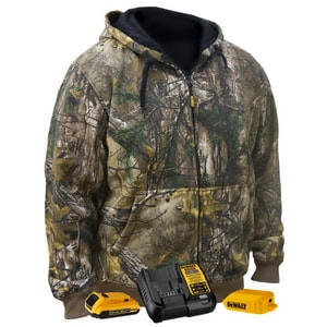 Radians XL Size 20V Polyester Heated Fleece Hooded Jacket Kit in Realtree Xtra® Camouflage RDCHJ074D1XL