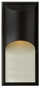 Hinkley Lighting 8 in. 100W 1-Light Medium E-26 Wall Lantern in SatinBlack H1834SK