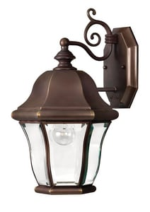 Hinkley Lighting 15-3/10 in. 60W 1-Light Outdoor Wall Lantern in Copper Bronze H2330CB