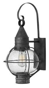 Hinkley Lighting Cape Cod 23-3/10 in. 1-Light 100W Wall Lantern in Aged Zinc H2204DZ